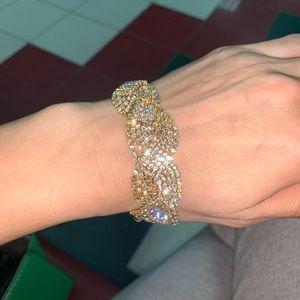 Gold diamond cz Austrian crystals bracelet AMAZING